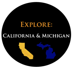Explore California and Michigan